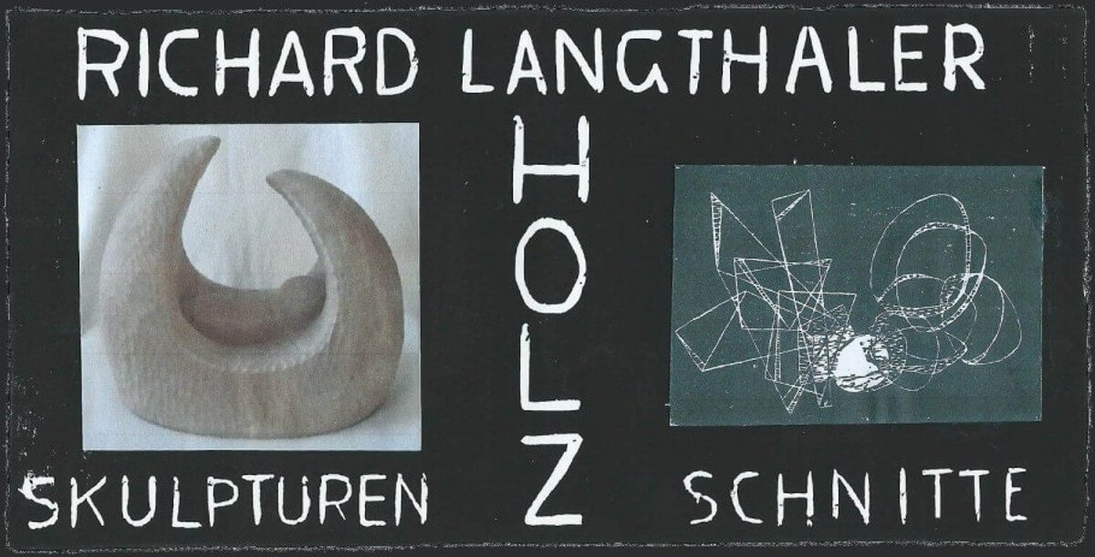Richard Lanfthaler Holz Skulpturen Schnitte